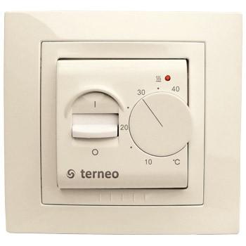 Терморегулятор для тёплого пола terneo mex unic слоновая кость