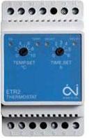 Терморегулятор OJ Electronics ETR2-1550 для антикригових систем та систем сніготанення з можл підключення 2-х датчиків