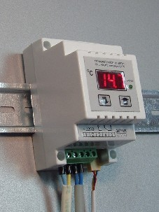 Терморегулятор. Термостат, Термореле. Для управления работой электро обогревателей на DIN рейку