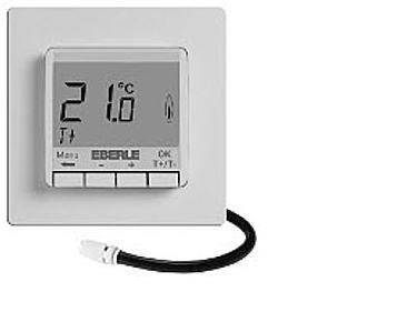 Термостат EBERLE-FITnp 3U. С съемным дисплеем. Датчики воздуха(встроенный) и пола(выносной на проводе 4 м).16А, IP30
