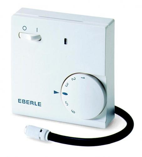 Термостат EBERLE-Fre 525 31. Настенный. с датчиком темп. пола и воздуха*. Датчик на проводе 4м.16А, IP30