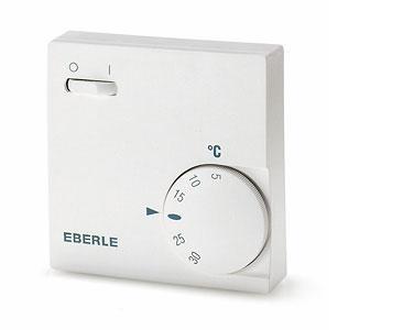 Термостат Eberle RTR-E 6121. Настенный регулятор с датчиком воздуха. 16 А, IP30