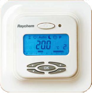 Термостаты с датчиками температуры пола и окружающего воздуха, ЖК дисплей, программируемый, адаптивный.