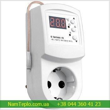 Terneo rz — терморегулятор в розетку для инфракрасных панелей