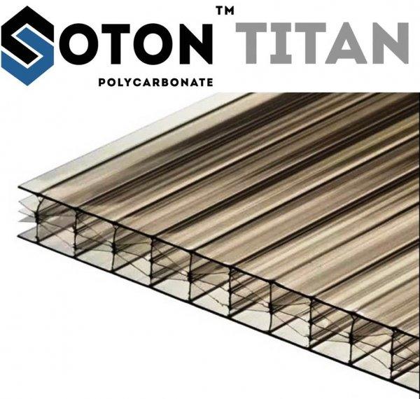 Фото 1 Сотовый поликарбонат усиленный SOTON TITAN 8 - 20 mm (прозр/бронз.) 341646