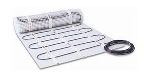 Тонкий теплый пол безмуфтовый двужильный нагревательный мат Hemstedt DH 0,3 m 45W ширина 0,3м