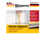 Тонкий теплый пол двухжильный нагревательный мат WARMSTAD WSM-680 Вт площадь обогрева 4,5 м2 комплект