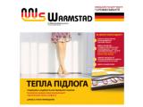 Тонкий теплый пол двухжильный нагревательный мат WARMSTAD WSM-1210 Вт площадь обогрева 8,0 м2 комплект