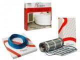 тонкий теплый пол в клей для плитки двужильный нагревательный кабель Nexans MILLICABLE FLEX/2R 1000/10
