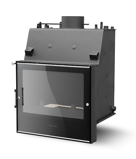 Топка для камина с водяным контуром PL-190 standard Lux. Номинальная тепловая мощность 19 кВт.