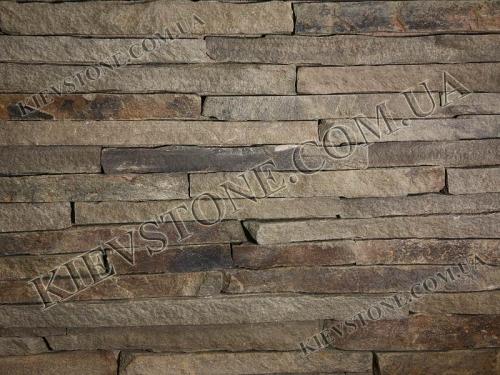 Торец серого песчаника для интеръерного и экстеръерного дизайна.