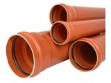 Труба ПВХ 110х3.2х1000мм для наружной канализации