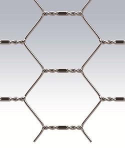 TREFORT (манье) - сетка из оцинкованной проволоки, с шестигранными ячейками, с дополнительной оцинковкой