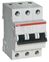 Фото  1 Автоматический выключатель ABB 3p, 32A, C, SH203-C32 2079317