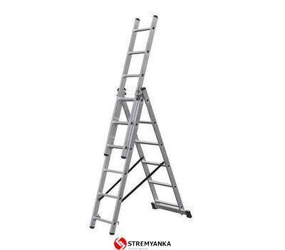 Фото  1 Трехсекционная лестница KRAUSE Corda 3x6 ступеней 2234178