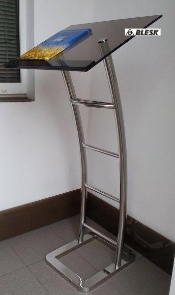 Трибуна, кафедра VICTORY металл тонированное стекло нерж сталь Цена
