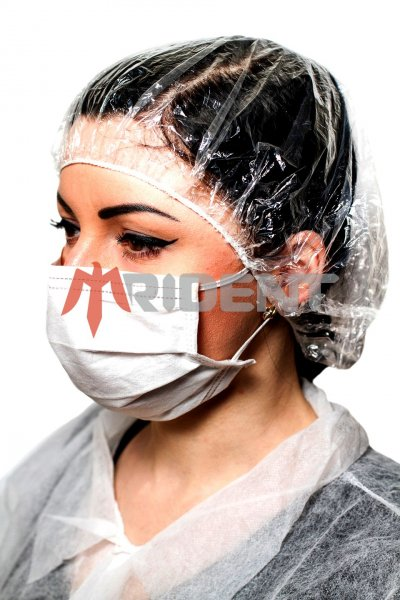 Фото  1 Маска захисна медична 3-сл. (Одноразовая 3слойная медицинская защитна маска на резинках) 1444451