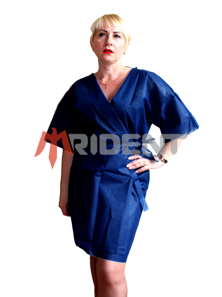 Фото  1 Кімоно неткане з кор. рукавом та поясом 40 гр. (халат-кимоно из нетканного полипропилена с коротким рукавом и поясом) 1444448