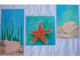 Фото  1 Модульная картина Морское дно Авторская работа, смешанная техника - акрил, масло. 2267531
