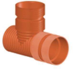 Тройник 90* ПП для гофрированных труб InCor D 200 х 200 мм