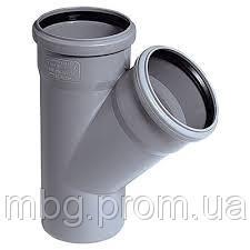 Тройник D4040 мм, угол 67°