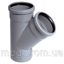 Тройник D5040 мм, угол 45°