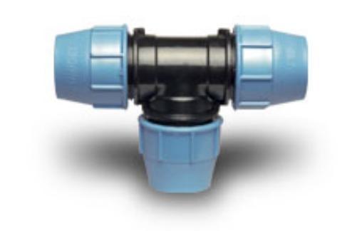 Тройник ПЭ-ПЭ D 110 х 110 х 110 мм