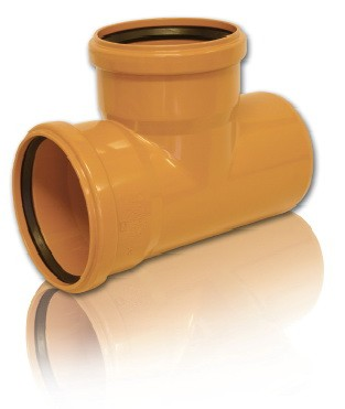 Тройник ПВХ 90* для безнапорной внешней канализации D 160 х 110 мм