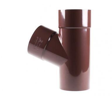 Tройник водосточной системы PROFIL 130/100;коричневый, белый;диаметр 100 мм