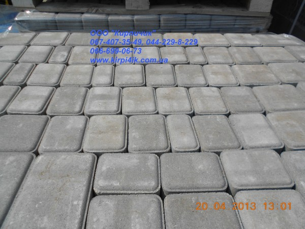 Тротуаоная плитка форма Старый город, толщина плитки 2,5 см, цвет - цветная.