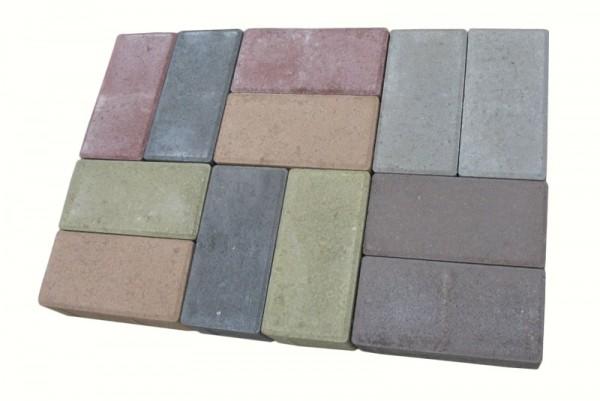 """Тротуарна плитка """"Кирпичик"""" h 45 кольорова Доставка в с. Шпитьки, с. Негроші, с. Музичі, Від виробника."""