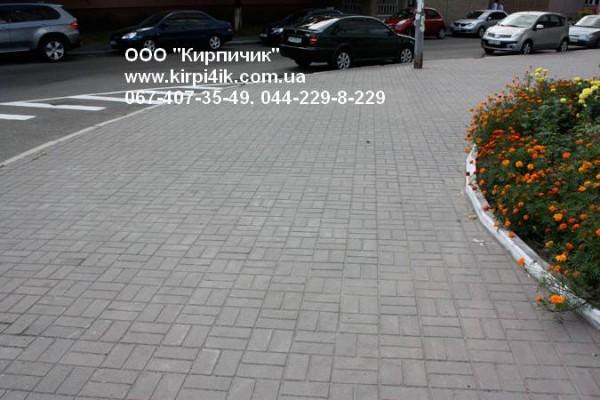 Тротуарная брусчатка 10*20*6см. Цвет серый.