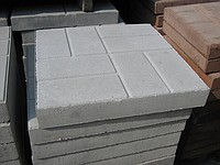 Тротуарная плита, вибропрессованная, 420Х420Х80 мм, красная, вес: 32 кг