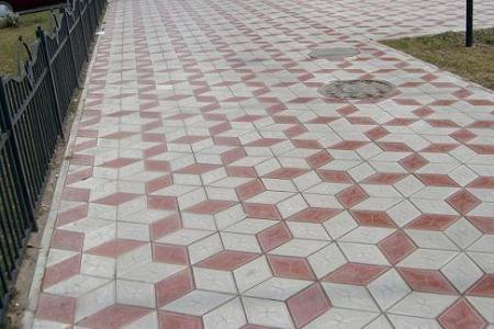 Тротуарная плитка Ромб.