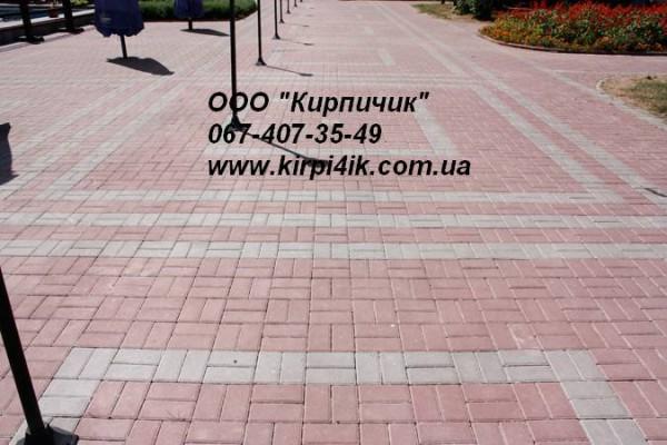 "Тротуарная плитка форма - ""Брусчатка&quot ;. Толщина плитки 60мм. Производство ""Авеню""."
