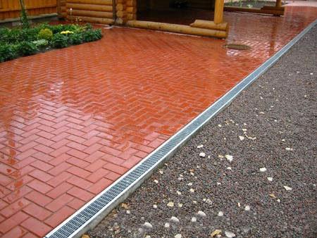 Тротуарная плитка «Кирпичик» 5,5 см