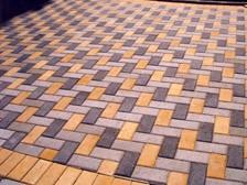 Тротуарная плитка Кирпичик 60 мм, Цвет:серый, красный, коричневый, оливка, персик, графит, белый, желтый, синий, зеленый