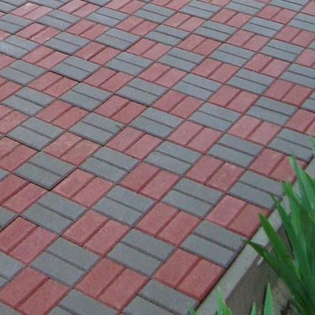 Тротуарная плитка Кирпичик , высота - 6см. Цвет - красный.