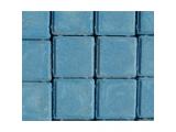"Фото  1 Тротуарная плитка ""Квадрат Стандарт УМБР 60мм, синяя на белом цементе 2036806"