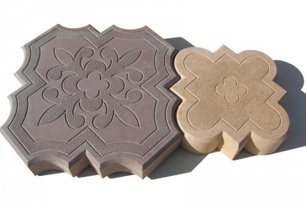 Тротуарная плитка Лилия Размер 295х295х45 мм и 215х215х45 мм