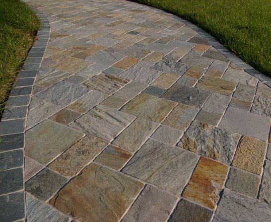 """Тротуарная плитка """"Брусчатка&quot ; Изготовлена из натурального камня-песчаника"""
