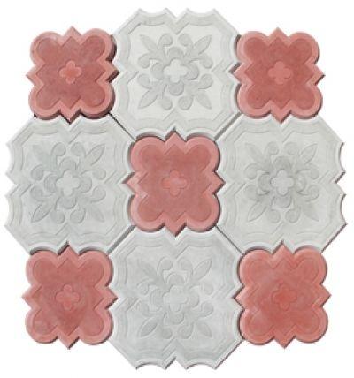 """тротуарная плитка """"Гжель"""" 25мм, 22шт/м2. Цвет: серый красный, другие цвета под заказ. плитка вибролитая."""