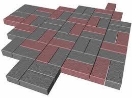 """Тротуарная плитка """"Кирпичик"""" прессованная и пропаренная. Размер 200*100*60 мм."""