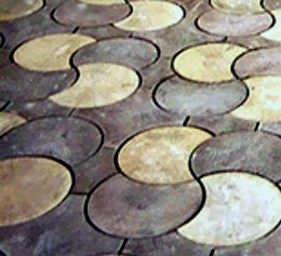 """тротуарная плитка """"СЕРПАНТИН&quot ; ; ; диаметр:243 мм; р-р. :335х215х45 мм"""