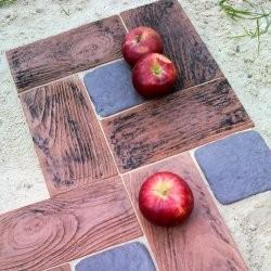 Тротуарная плитка с текстурой дерева
