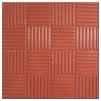 Тротуарная плитка Шоколадка 30х30см, толщ. 30 мм Красный (м. кв. )
