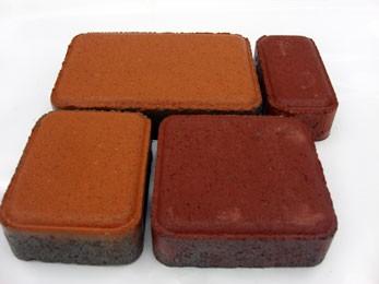 Тротуарная плитка Старый город 25 мм, Цвет:серый, красный, коричневый, оливка, персик, графит, желтый, синий, зеленый
