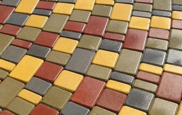 Тротуарная плитка Старый город 25мм, 40мм, 60мм. Серый, персик, красный, коричневый, черный, оливковый, желтый.