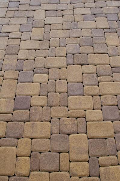 Тротуарная плитка Старый город 40 мм, Цвет:серый, желтый, зеленый, красный, коричневый, оливка, персик, графит, белый,