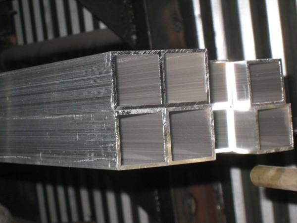 Труба алюмінієва 100х100мм стінка 2мм; 3мм; 4мм АД31Т1, АД31Т5